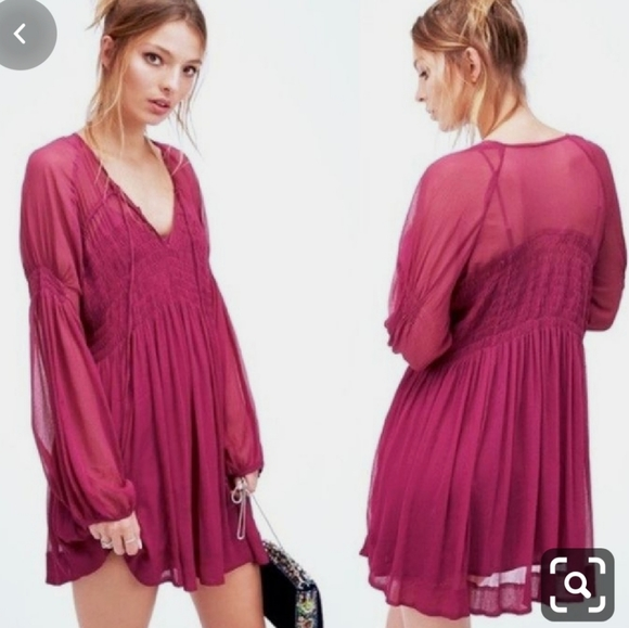 Free People | Lini Ethereal Smocked Mini Dress